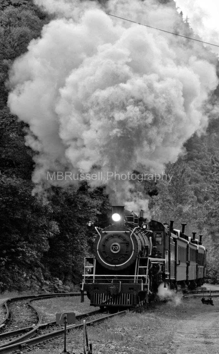 Number 73 steam engine, Skagway, Alaska